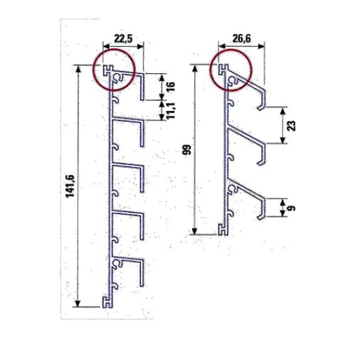 Vierteaguas de aluminio perfil